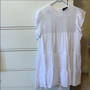 Vick Cotton Ruffle Dress